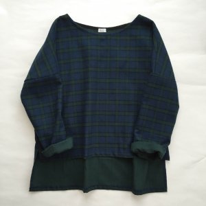 Tattersall check blouse*ladies