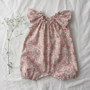 Frill sleeve  Rompers*Felicite