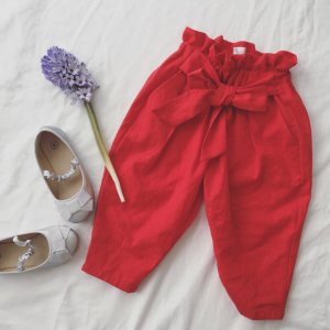 Ribbon Tuck Pants*Tomato