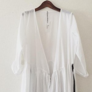 cotton robe onpiece*Ladies*white