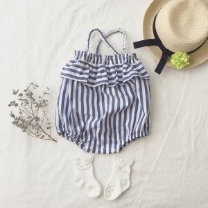 Stripe baby rompers
