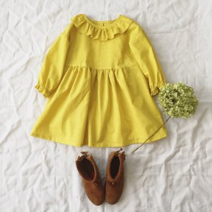 frill coller onepiece *yellow