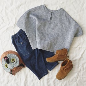 linen wide blouse