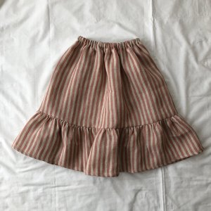 stripe linen skirt