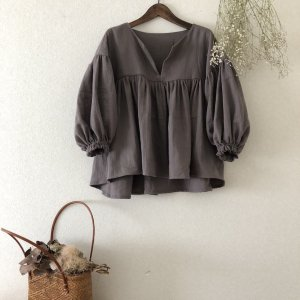 Gawze gathered blouse*Ladies