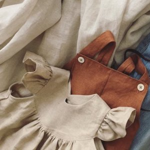 Natural linen Angel dress