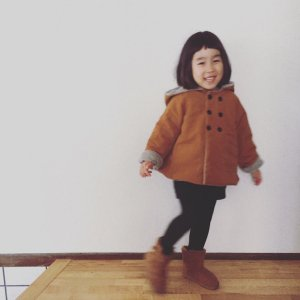 Onibegie hooded coat caramel