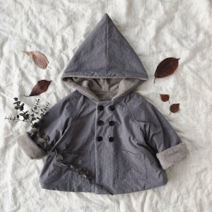 Onibegie hooded coat lilacgray