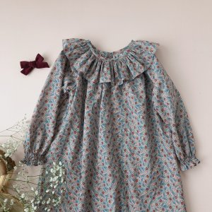 Frill coller dress bramble blossom
