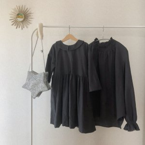 cotton linen onepiece *charcoal