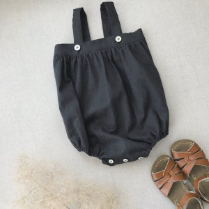 cotton linen baby rompers