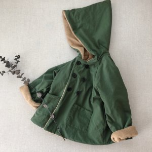 Onibegie hooded coat green