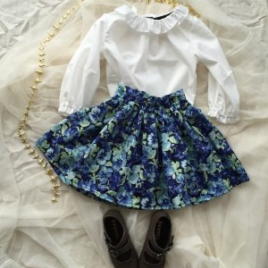 Gathered Skirt *Pansy Flower