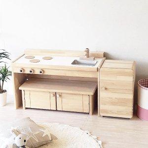 (名入れOK) ままごとキッチン&デスク A800+冷蔵庫セット