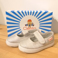 VELCRO ONE STRAP SHOES / PLATA  (シルバーラメ)
