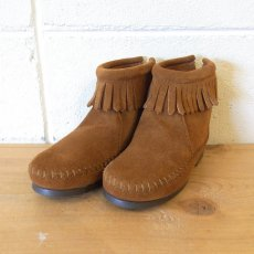BACK ZIPPER BOOTS / BROWN
