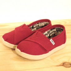 TOMS Red Canvas Tiny Classics