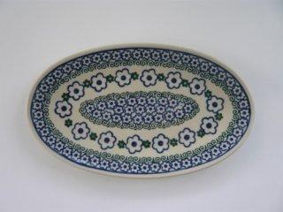 ポーランド食器(ポーリッシュポタリー)オーバル皿 Sサイズ 『ウォーター リリー』