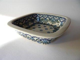 ポーランド食器(ポーリッシュポタリー)オーブン皿・角鉢 『トルコの海辺』