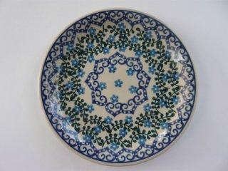 ポーランド食器(ポーリッシュポタリー)丸皿21cm 『トルコの海辺』