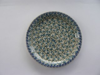 ポーランド食器(ポーリッシュポタリー)丸皿21cm 『小紋』