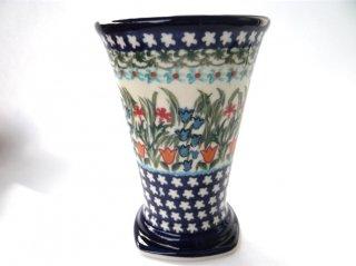 ポーランド食器(ポーリッシュポタリー)フリーカップ 『ガーデンパーティー』