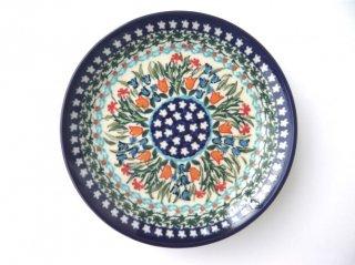 ポーランド食器(ポーリッシュポタリー)丸皿16cm 『ガーデンパーティー』