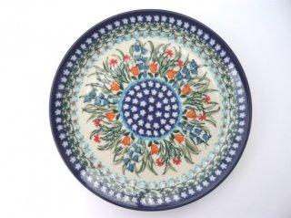 ポーランド食器(ポーリッシュポタリー)丸皿19cm 『ガーデンパーティー』