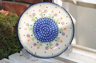ポーランド食器(ポーリッシュポタリー)丸皿 19cm 『お池でロンド』