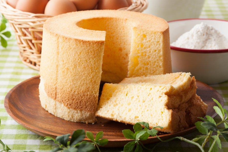 しっとりふわふわのシフォンケーキ