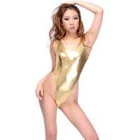 【サマーフェスタ☆全品10%OFF!】Tバックタイプのセクシーなレオタード(LEOTARD) ゴールド