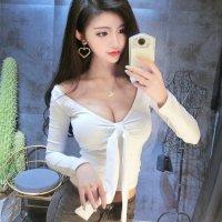 【サマーフェスタ☆全品20%OFF】前後どちらでも着用可能な着まわし力抜群の長袖トップス(TOPS) ホワイト