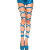 【サマーフェスタ☆全品15%OFF!】メタリックの光沢感と質感がセクシーな美脚を演出するメタリックレッグラップ(LEG WRAP) ライトブルー