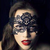 ケミカルレースのアイマスク(EYEMASK) ブラック