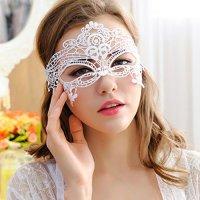 ケミカルレースのアイマスク(EYEMASK) ホワイト