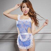 カラーバリエーション豊富な色気のある可愛い新妻エプロン風セクシーコスプレ(SEXYCOSPLAY) ブルー