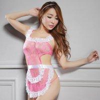 カラーバリエーション豊富な色気のある可愛い新妻エプロン風セクシーコスプレ(SEXYCOSPLAY) ライトピンク