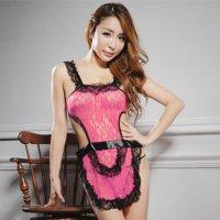カラーバリエーション豊富な色気のある可愛い新妻エプロン風セクシーコスプレ(SEXYCOSPLAY) ピンク