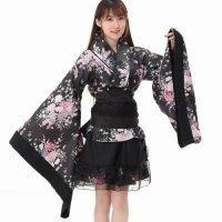 【歳末SALE☆全品10%OFF】上着とスカートのツーピース仕立てになった変形の着物風コスプレ(COSPLAY)