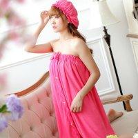 【最大50%OFF☆HALLOWEEN】肌触りの柔らかいパイル地を使用した湯上り風デザインのコスプレ(COSPLAY) ピンク