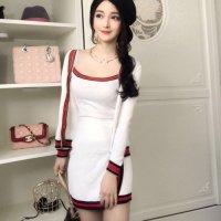 【春分フェア☆第2弾】洗練されたセンスでリッチな魅力が溢れるセットアップ風セクシードレス(SEXYDRESS) ホワイト