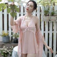 セクシーさの中にも気品が溢れ大人のムードが香るベビードール (BABYDOLL) ピンク