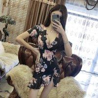 上品な花々を集めた花束のように華やかで上品なドレス(キャバドレス・CABARETDRESS) ブラック