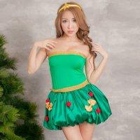 立体的なオーナメントが揺れるクリスマスツリーの妖精風セクシーコスプレ(SEXYCOSPLAY)