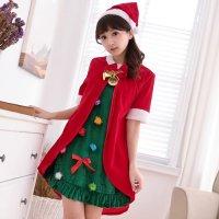 オーナメントを好きなところに取り付けられる遊び心が楽しいクリスマスツリー風セクシーコスプレ(SEXYCOSPLAY)