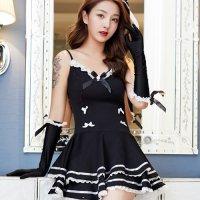 ロココ調のクラシカルな雰囲気で乙女ガーリスタイルに気品を添えるアイドル風コスプレ(COSPLAY) ブラック