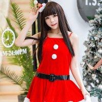 クリスマスカラーのキャミワンピにファーがたっぷりのサンタガール風セクシーコスプレ(SEXYCOSPLAY)