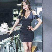 【ホワイトデー☆フェア 第1弾】ボディを美しく魅せるタイトなラインがリッチでグラマラスなドレス(SEXYDRESS) ブラック
