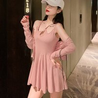 トップス付きが嬉しいオールマイティに着こなすセットアップ風ドレス(SEXYDRESS) ピンク