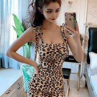 ベーシックなレオパードで強気にセクシーなドレス(SEXYDRESS)